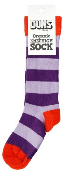 Duns Knee High Socks Purple Stripe